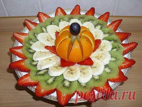 El corte de fiesta de frutas