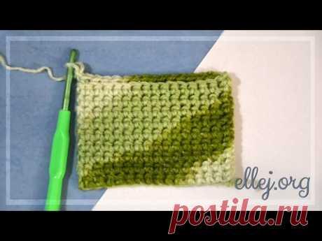 Плотный двойной узор   Crochet by Ellej   Вязание крючком от Елены Кожухарь