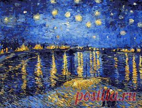"Картинка по номерам: Ван Гог. ""Звездное небо"" (AliExpress)"