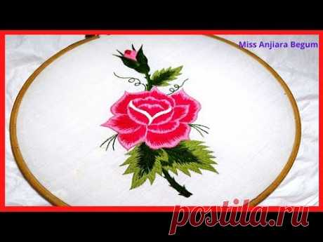 Cute Rose Hand Embroidery,Flowers Embroidery,Secrets of Embroidery 17,Embroidery, #Miss_A