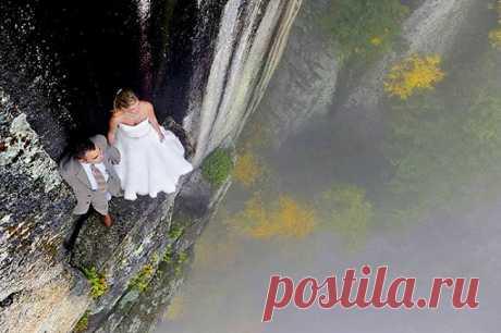 Необычные свадебные фотосессии на природе: в горах