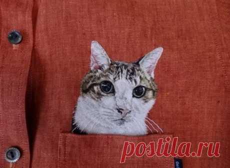 Вышитые котята прославили японского мастера на весь мир | MIAZAR | Яндекс Дзен