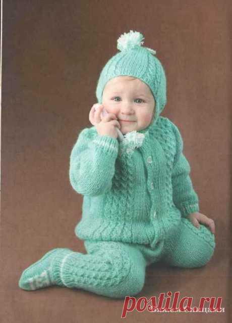 Комплект: шапочка, штанишки и жакет на возраст 1-1,5 года | Моё хобби.Вязание для детей. | Яндекс Дзен