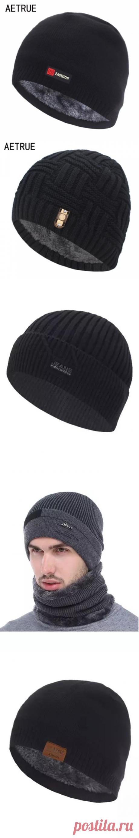 Шапочки, облегающие шапки, Мужская зимняя шапка, женские и мужские вязаные шапки для мужчин, головной убор, толстая теплая меховая шапка без козырька, мужская шапка Мужская Skullies & шапочки
