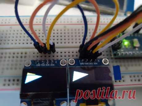 SSD1306 0,96-дюймовый ЖК дисплей с разрешением 128 * 64, распространен в Arduino Проектах. Для того чтобы использовать 0,96-дюймовый ЖК дисплей в Arduino проектах можно посмотреть Ардуино уроки.