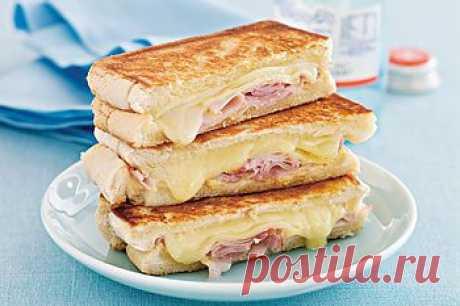 Как приготовить бутерброды с ветчиной и сыром - Бутерброды . 1001 ЕДА вкусные рецепты с фото!