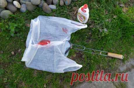 Кладу грязную решетку после шашлыка в пакет, а достаю чистой: просто и эффективно. - Best-recipes.ru