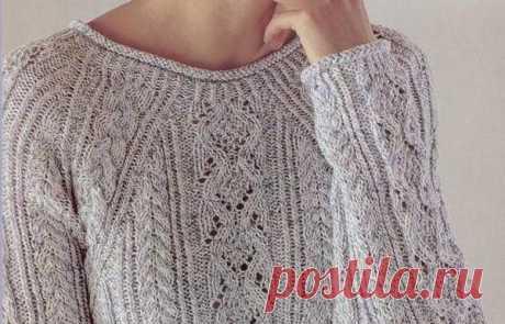 Стильный пуловер спицами. - Вязание для всех