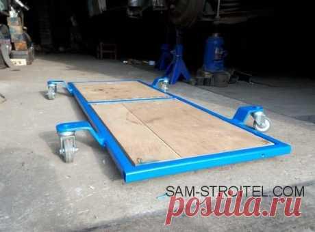 Самодельный подкатной лежак автомеханика: фото, размеры, описание изготовления