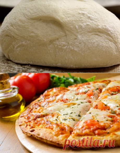 Рецепт тонкого дрожжевого теста для пиццы.