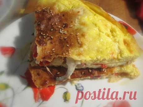 Пицца из лаваша Завтрак за 15 минут