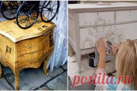 Она круто обновила мебель своими руками… нет слов, респект предметам интерьера…. | Краше Всех