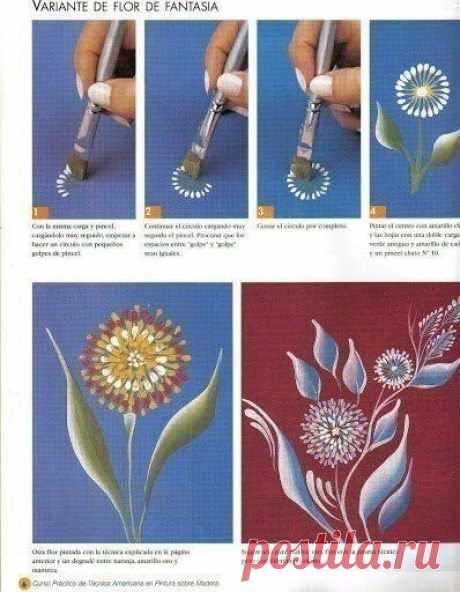 Рисуeм цветочки пошагово