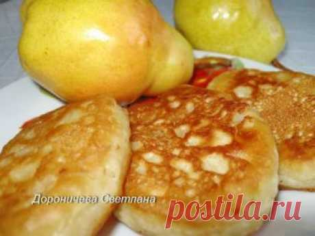Ароматные оладушки с грушами на ряженке Приготовь к завтраку!