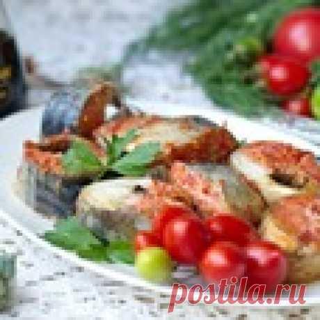 Скумбрия с томатами Кулинарный рецепт