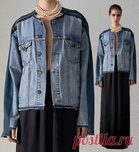 Переделка куртки Модная одежда и дизайн интерьера своими руками