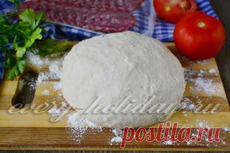 Тесто на пиццу, рецепт как в пиццерии, дрожжевое