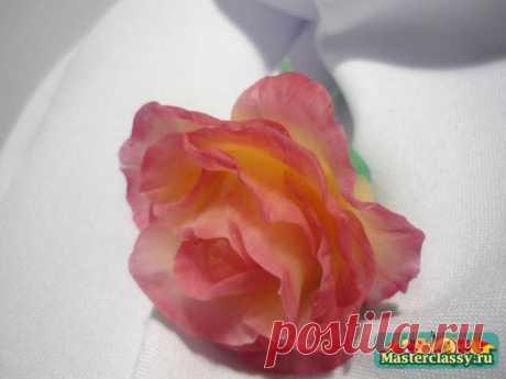 Мастер класс. Роза из холодного фарфора. Простой рецепт холодного фарфора