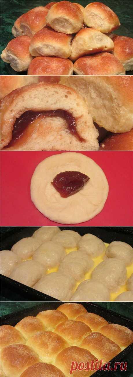 Заливные булочки с начинкой, очень вкусные, нежные, воздушные, мягкие..