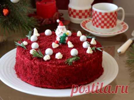 Торт «Красный бархат» с кремом чиз — рецепт с фото пошагово