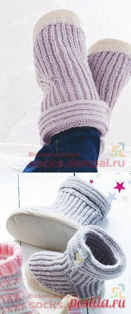 Knitted slippers for children