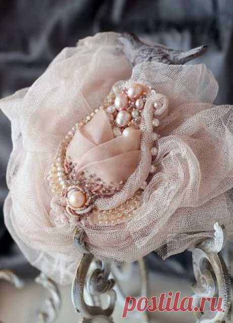 Эффектные украшения для одежды из органзы, шифона и кружева — Делаем Руками