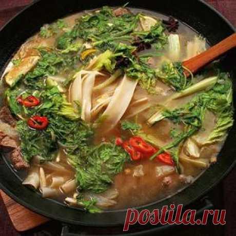 Вкуснейший суп с рисовой лапшой и изумительной бараниной не оставить вас равнодушным! Читаем! Готовим! Комментируем!
