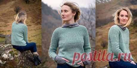 Пуловер с круглой кокеткой Borrowdale - Вяжи.ру