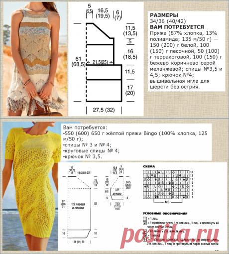 А не пора ли помечтать о лете? - выбираем летнее платье - вязание спицами, 10 моделей с выкройками и схемами   МНЕ ИНТЕРЕСНО   Яндекс Дзен