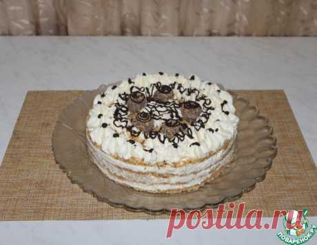 Торт без выпечки с творожным кремом – кулинарный рецепт