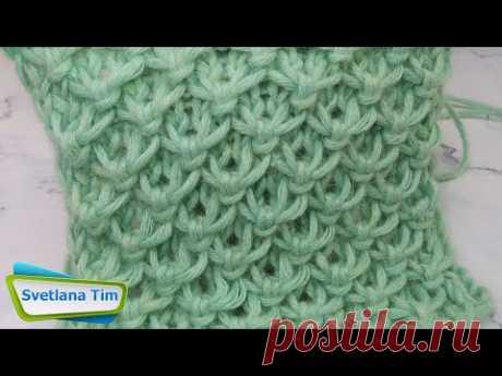 """""""Объемные Ромбы"""" - Этот узор спицами подойдет для вязания шапки, снуда, свитера, кардигана № 581"""