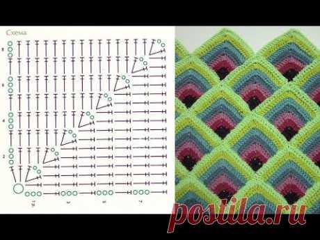 Пледы крючком со схемами и покрывала - подборка фото и схем