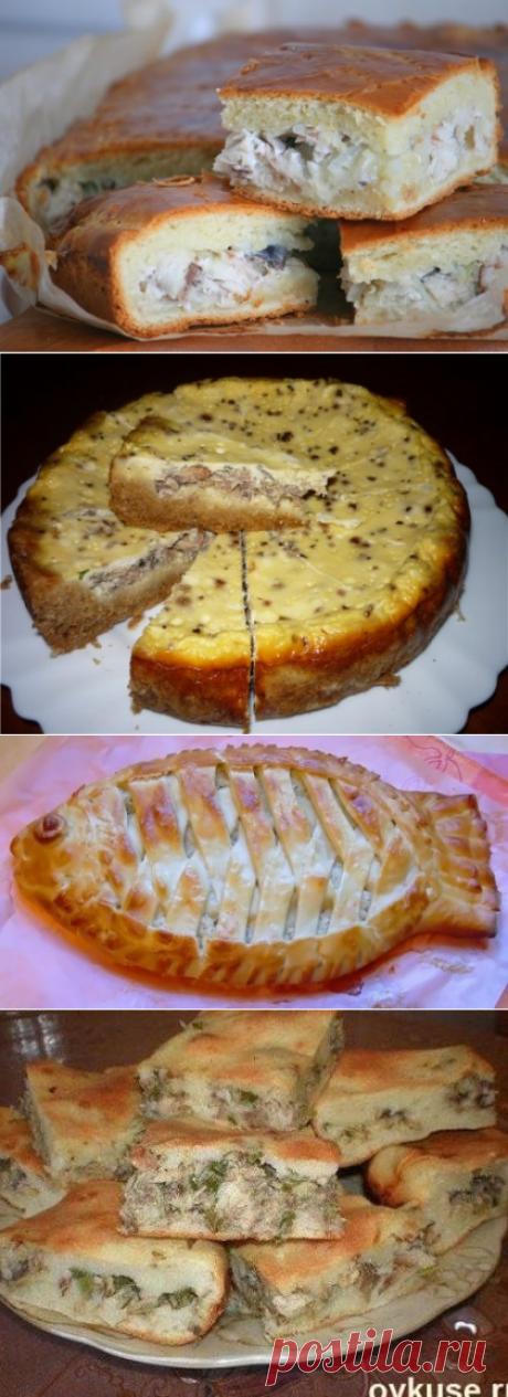 Просто, бюджетно и сытно: 4 пирога с консервированной сайрой / Простые рецепты