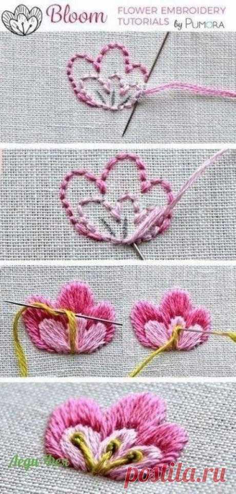 Уроки вышивки Уроки вышивки невероятной красоты элементов для создания вами рукодельных шедевров.