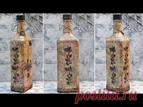 Интересный декор бутылки, такого вы еще не видели