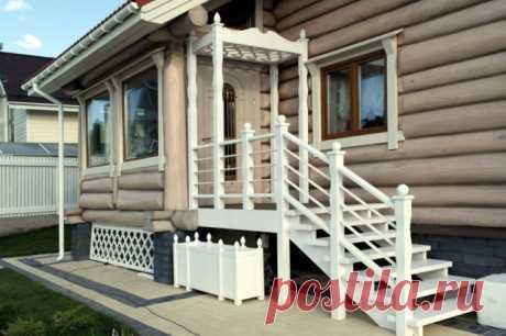 """Как сделать красивое крыльцо для дачного домика - Журнал """"Сам себе изобретатель"""" Почти в каждом доме есть крыльцо. Во время строительства, сразу в чертежах планах делают крыльцо. Почему это важно? Потому что если дом имеет крыльцо, то во –первых – это красиво, а во – вторых крыльцо защитит дом от грязи и пыли. Также крыльцо может многое о жильцах, имея крыльцо судя по его дизайну можно смело …"""