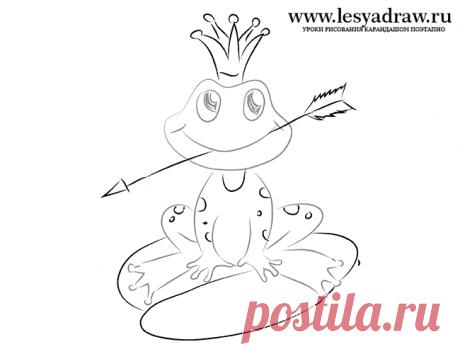 Как рисовать Царевну Лягушку поэтапно легко