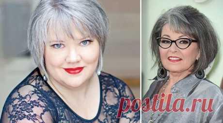 Los peinados para la cara redonda para las mujeres por 40