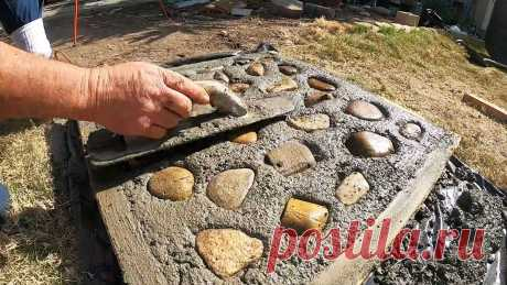 Как сделать бетонную тротуарную плитку для сада с видом брусчатки Чтобы организовать дорожку в саду, оптимально ее выложить плиткой или камнем, чтобы ходить по чистой твердой поверхности в любую погоду. Если вы хотите существенно сэкономить, то такую плитку лучше отлить своими руками. Предлагаем способ, как ее сделать не скучной серой, а с красивым