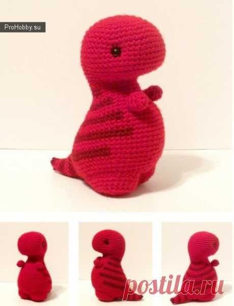 Динозаврирк Тирекс / Вязание игрушек / ProHobby.su | Вязание игрушек спицами и крючком для начинающих, мастер классы, схемы вязания