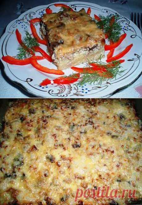 Запеканка с мясом и грибами. | Домашняя еда