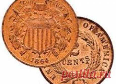 Сегодня 22 апреля в 1864 году В США начата чеканка бронзовых монет достоинством в 1 и 2 цента