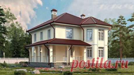 Площадь дома 180 м2 Размер 11.2x11.3 м