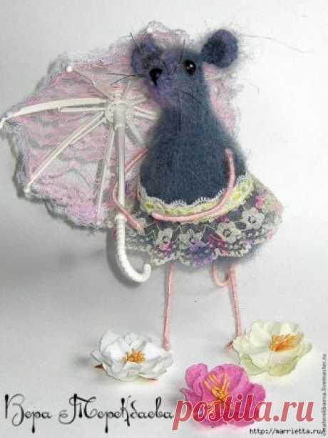 Мышка Сонечка крючком. Описание и мк
