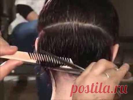 Женская стрижка на короткие волосы - YouTube