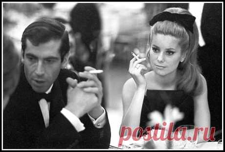 Catherine Deneuve and Roger Vadim at the Paris Opera Gala, photo by Pierluigi Praturlon, March 18, 1962