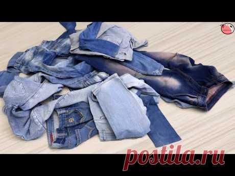20 идей для переделки джинсов