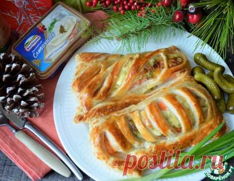 Сёмга с сыром в тесте – кулинарный рецепт