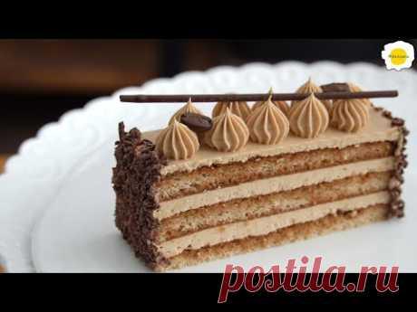 Карамельный кофейно-масляный торт