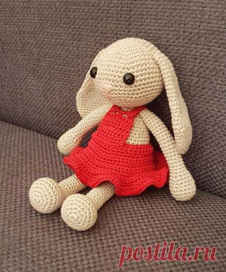 Амигуруми зайка в платье: схема вязания игрушки